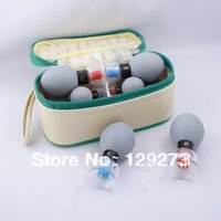 Free Shipping HACI Magnetic Acupressure Suction Cupping Set 8 Cups Vacuum Cupping Massage Therapy Heath Care