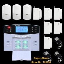 Quad Band Беспроводной Домашней Системы Безопасности GSM Сигнализация ЖК-Экран