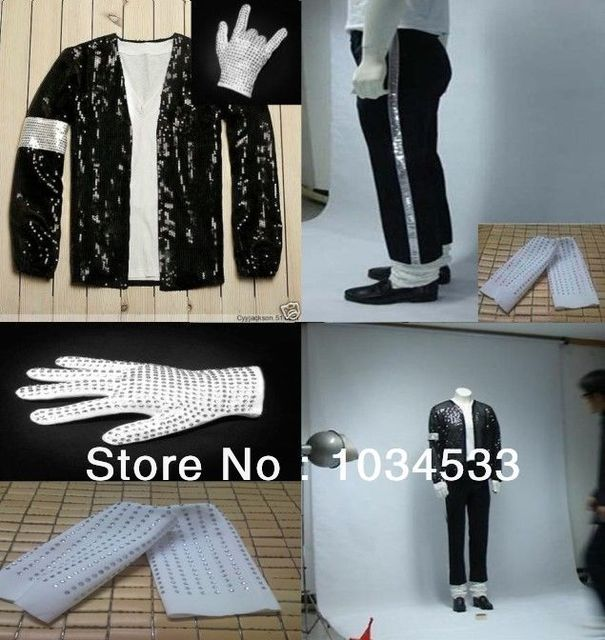 Michael Jackson Billie Jean Costume Accessories MJ Glove Socks Jacket Pant de74a1dd5