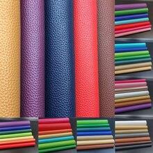 Tela de cuero sintética de polipiel sintética para coser, broches para sofá y coche, Material de 20x30cm, A4 Litchi