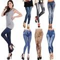 ¡ Nuevo! moda! primavera Verano Impreso Denim Leggings Punk Seamless Jeans Ajustados Gimnasio Mujeres Jóvenes Sexy Pantalones Ocasionales Delgados