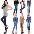 New! Fashion! Spring Summer Printed Denim Leggings Punk Seamless Skinny Jeans Fitness Women Youth Sexy Slim Casual Pants