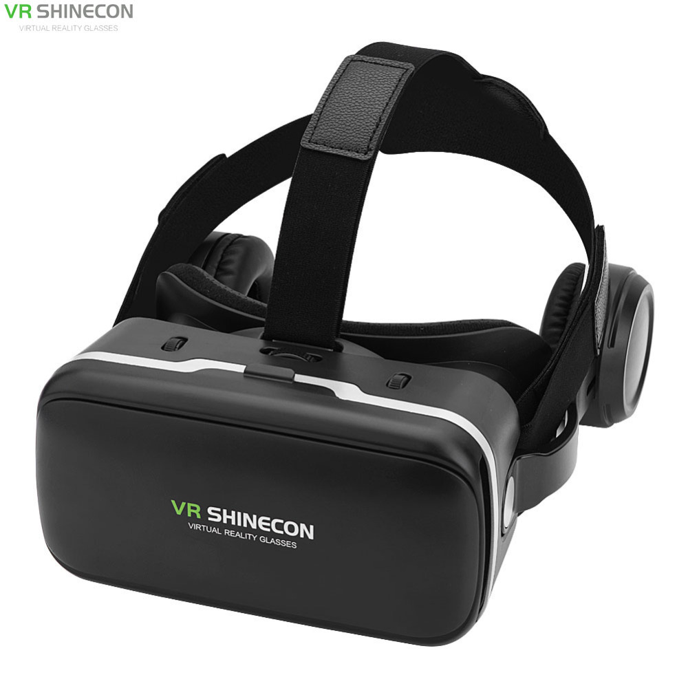 VR Shinecon 6.0 With Headset Vr Box Virtual Reality Goggles 3D Cardboard Glasses Virtual Box Realidade 3D Movie Game For Iphone