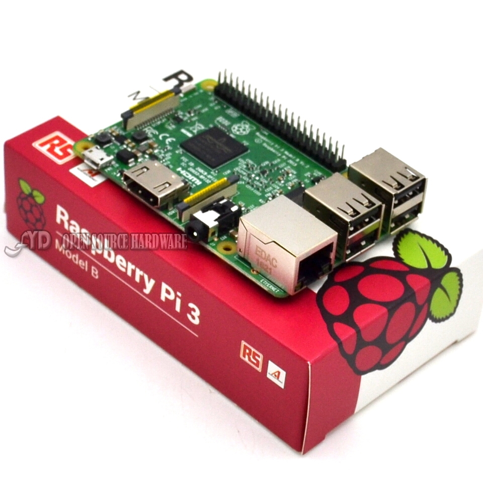 2016 New Original Raspberry Pi 3 Model B Board 1GB LPDDR2 BCM2837 Quad-Core Ras PI3 B,Ras PI 3B,Ras PI 3 B with WiFi&Bluetooth
