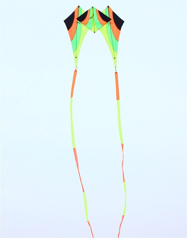 Livraison gratuite haute qualité marche ciel delta cerf-volant avec 15m queues poignée ligne weifang cerf-volant volant kiteboard jouets aquilone puissance - 3