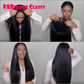 Glueless 7A Malaysian Straight Lace Front Wig Human Hair High Density Full Lace Middle Part Wig Malaysian Hair For Black Women