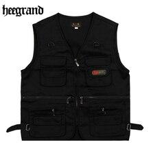 HEE GRAND 2018 New Plus Size Vest Black Fashion High Quality Comfortable Thin Men Vest MWB200
