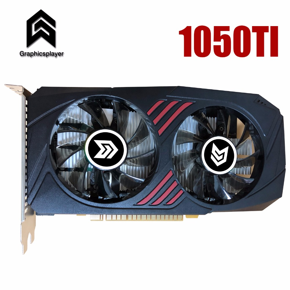 Graphic Card PCI-E GTX1050ti GPU 4G DDR5 for nVIDIA Geforce Game Computer PC 4096MB image