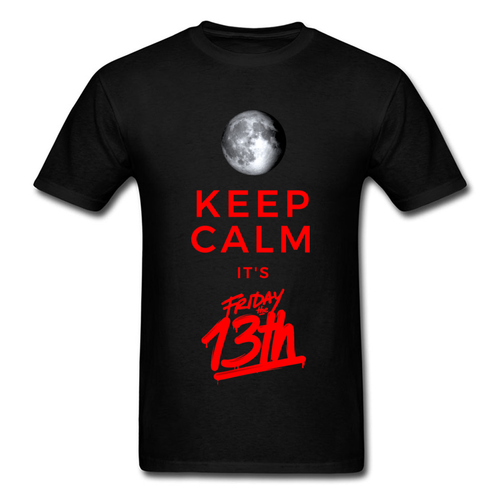 Friday The 13th Halloween Mens T Shirts Trick Or Treat Funny Letter GG T-Shirt Men Summer Black 3D Moon Streetwear