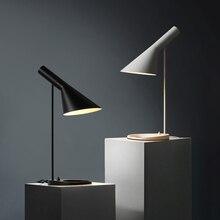 Modern minimalism AJ Black Led Table Lamp nordic Bedroom Bedside lamp desk Light Nordic Desk Lamp Study Reading table light цена 2017
