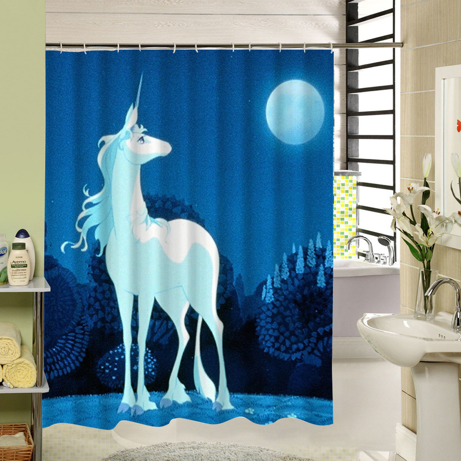 WARM TOUR Shower Curtain 3d Printing Angel Devil Unique Art Design Bath  Curtain Water Resistant With 12 Rings Set