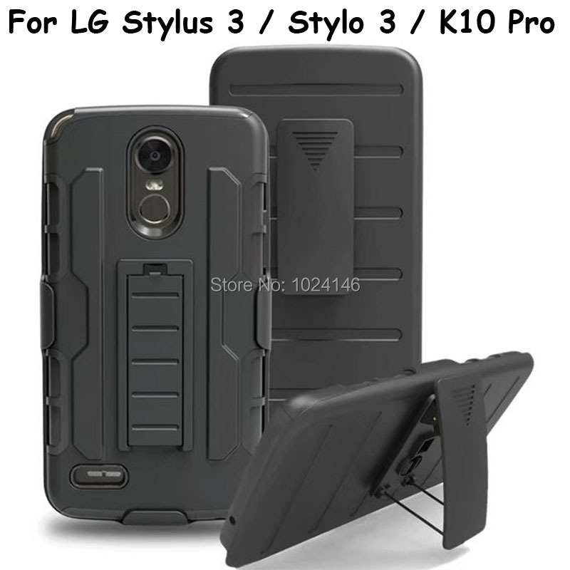 For LG Stylus 3 / LG Stylo 3 / LG K10 Pro 5.7 Future Armor Heavy Duty Rugged Belt Clip Defender Stand Case With Kickstand Cover
