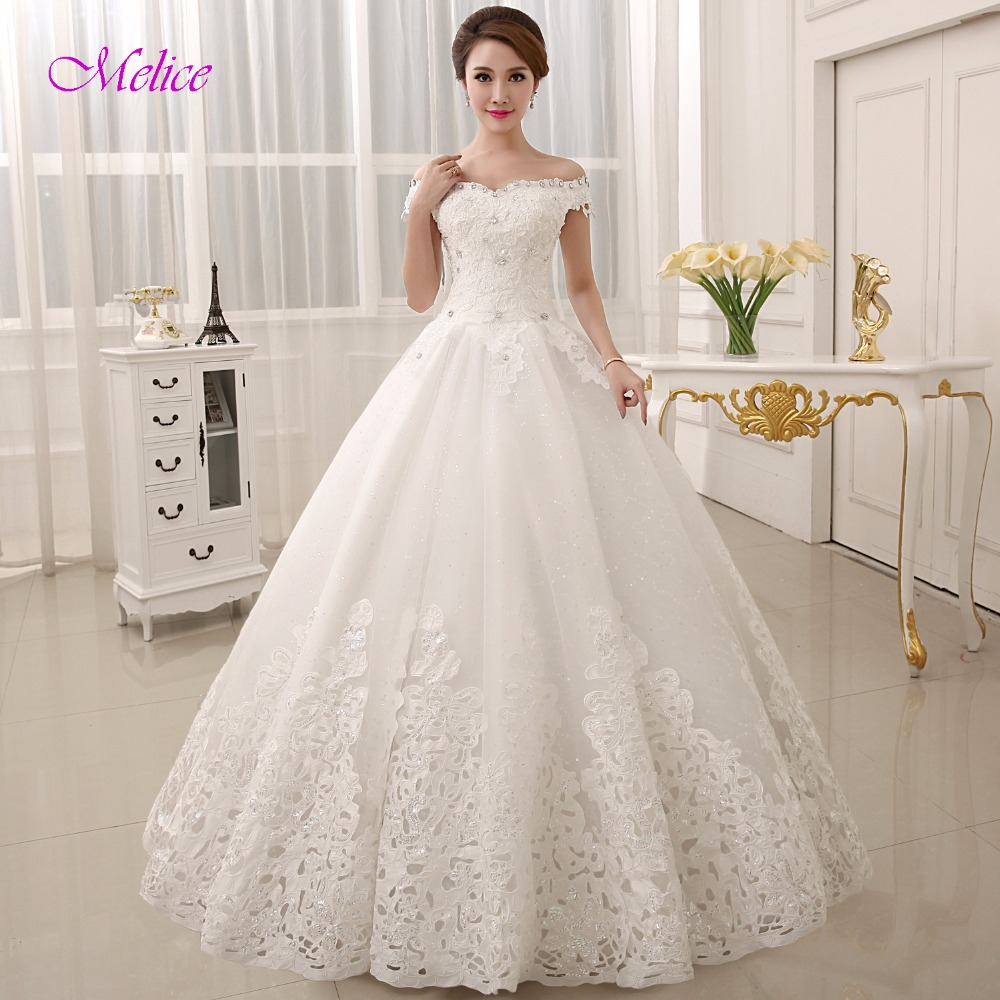 Sweetheart Wedding Dress With Cap Sleeves: Melice Gorgeous Appliques Sweetheart Lace Up A Line
