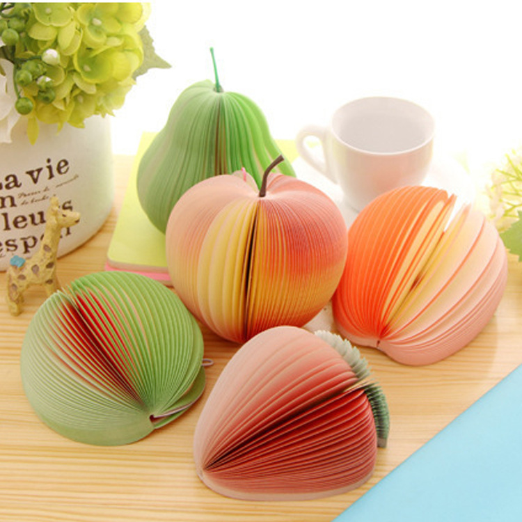 Fruit Note Memo Pads Portable Scratch Paper Notepads Post Sticky Cute Kawaii Creative School&office Supplies Stationery