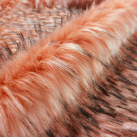 Autumn and winter color Jacquard artificial faux fur collar fabric customized Imitation raccoon Eco friendly