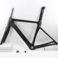 Newest QILEFU 700C Racing Road Bicycle Matte Gloss Logo UD Full Carbon Fibre Bike Frames Fork