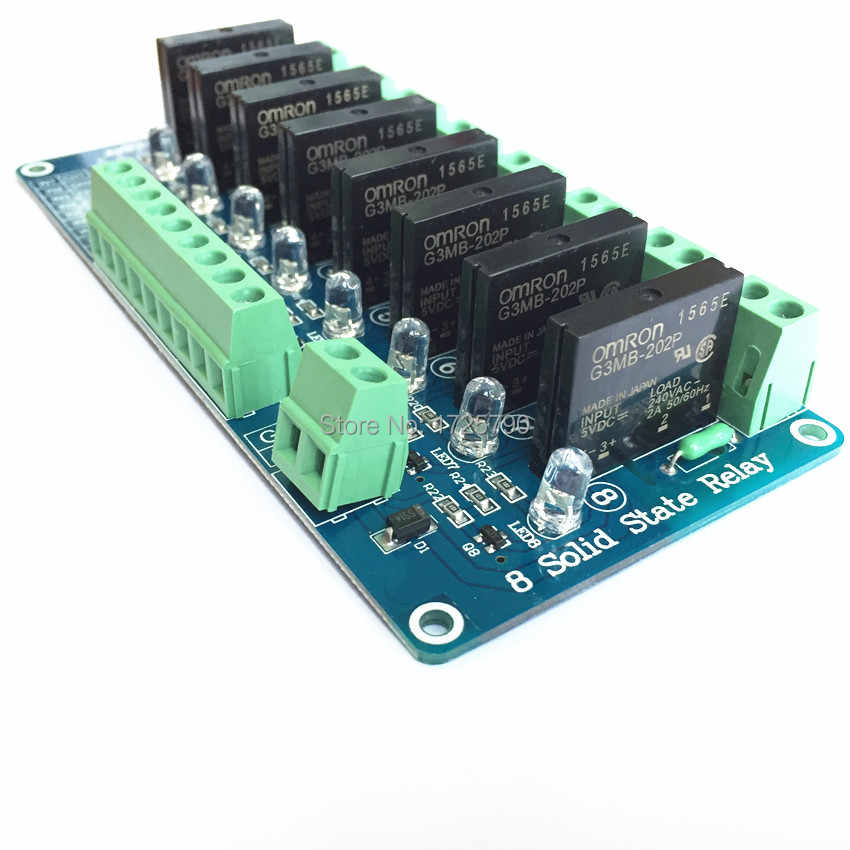 Sainsmart 8 Channel 5V Solid State Relay Module Board OMRON