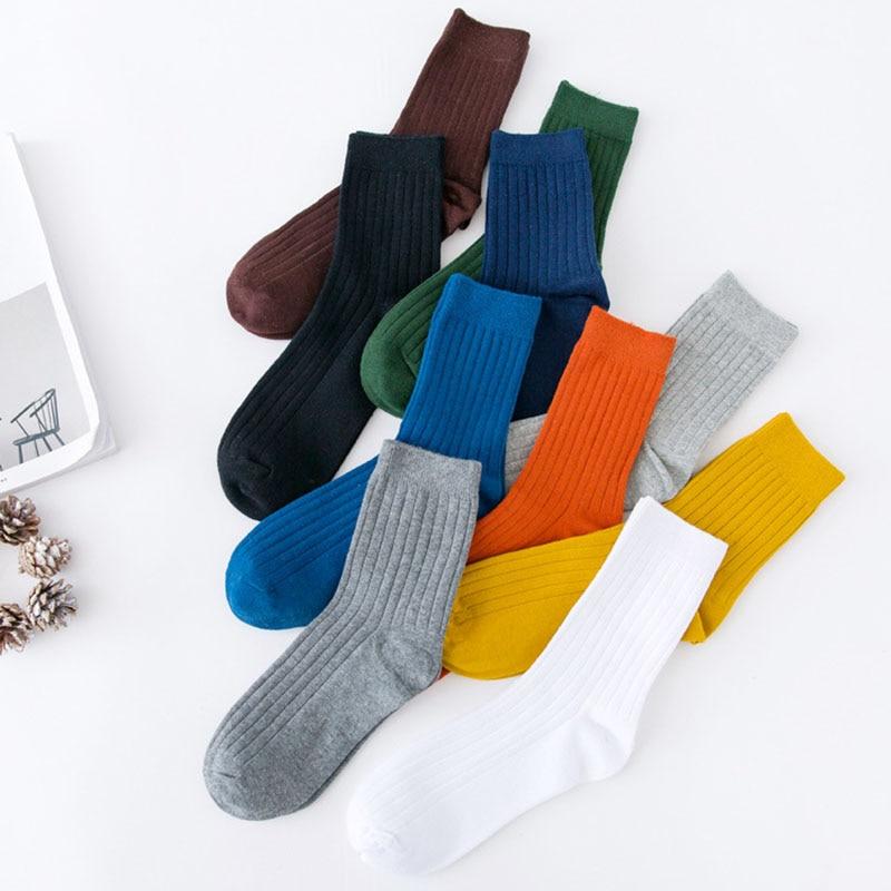 Men business cotton socks candy colorful stripe sporty fashion socks dress crew Deodorant high quality brand simple style