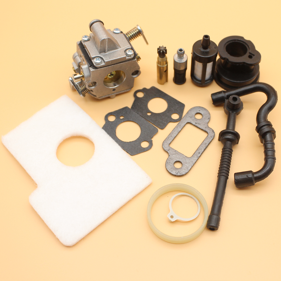 Carburetor Air Filter Intake Boot Fuel Hose Kit For STIHL MS170 MS180 MS 170 180 017 018 Chainsaw Zama C1Q-S57B carburetor oil fuel line intake boot cap for chainsaw stihl 044 046 ms440 ms460