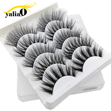 YALIAO 3D False Eyelashes 5 Pairs Natural Thick Makeup Eye Lashes Eyelash Extension High Quality Fake For Beauty