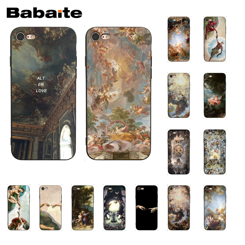 Babaite palace of versailles The Creation of Adam Art Phone Case for iphone 11 Pro 11Pro Max 8 7 6 6S Plus X XS MAX 5 5S SE XR