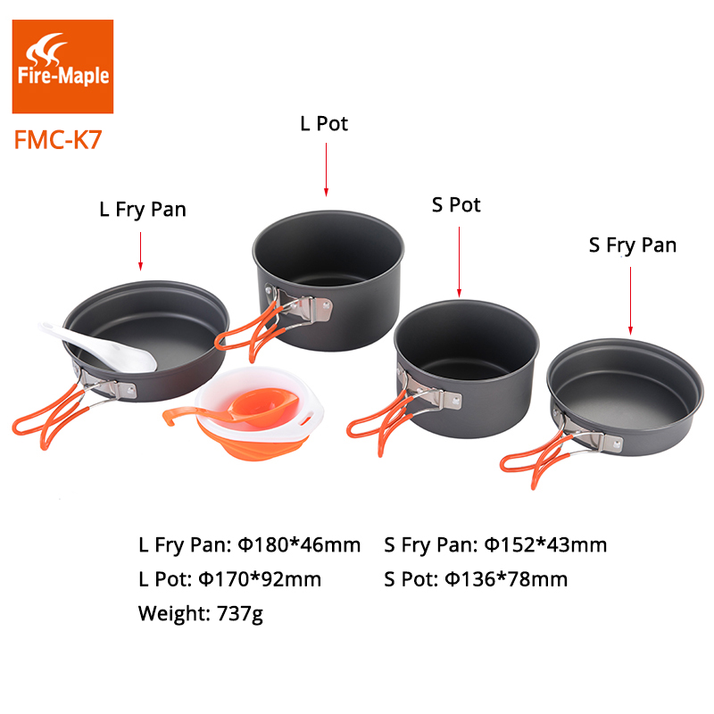 Fire Maple Outdoor Camping Tools Picnic Set Foldable Cooking Cookware Aluminum Alloy For Outdoor Camping 2-3 Persons fire maple pots set outdoor camping foldable cooking cookware aluminum alloy for 2 3 persons fmc 208