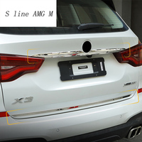 stainless steel Car styling for BMW X3 G01 2018 Car Rear Tail Trunk Lid Molding decoration Covers Sitckers Trim Auto Accessories