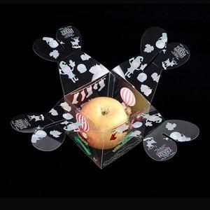 Image 4 - Caja de caramelos transparente de PVC, caja de regalo decorativa de Navidad, de Papá Noel, muñeco de nieve, alce, Reno, cajas de manzana de caramelo, 20 Uds.