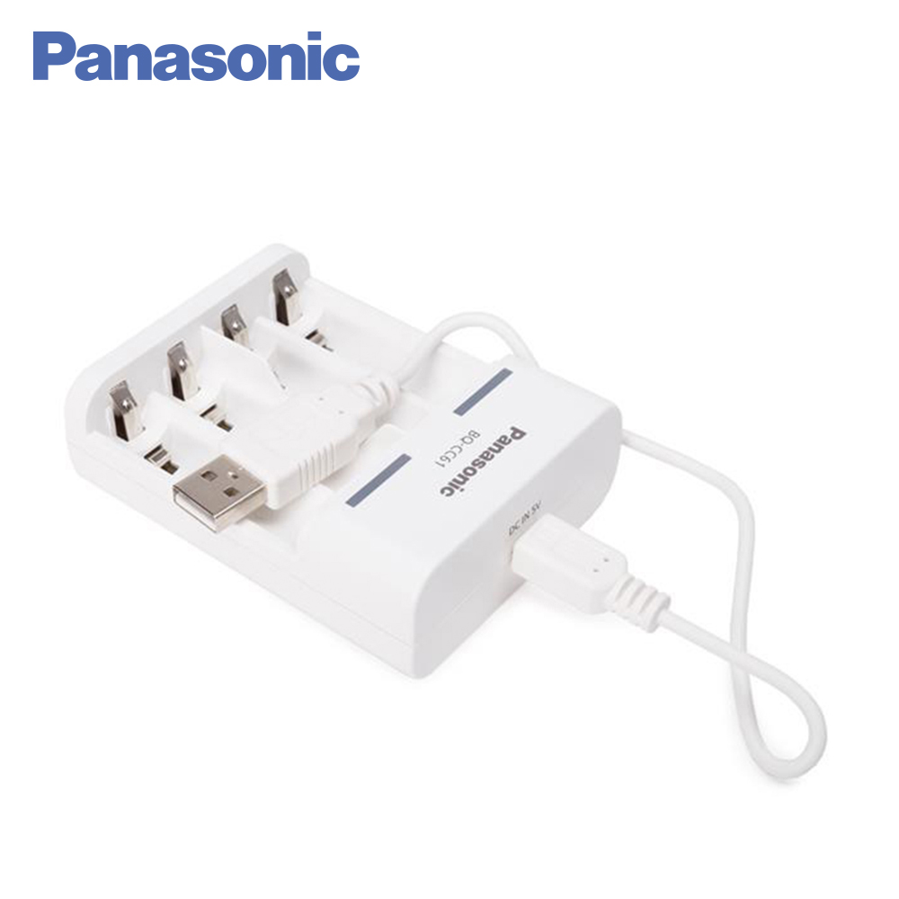 Panasonic Chargers BQ-CC61USB Basic Charger BL1 charger rechargeable battery power bank universal 5200mah external li ion battery charger power bank w led indicator usb cable white