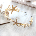 new beach starfish shell headband for brides wedding hair accessories bridal party jewelry headpiece T548
