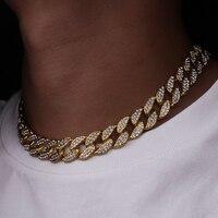 Karopel Iced Out Bling Rhinestone золотое покрытие, ожерелье с цепочкой, Мужская цепочка в стиле хип-хоп, ювелирное изделие 16,18, 20,24 дюйма