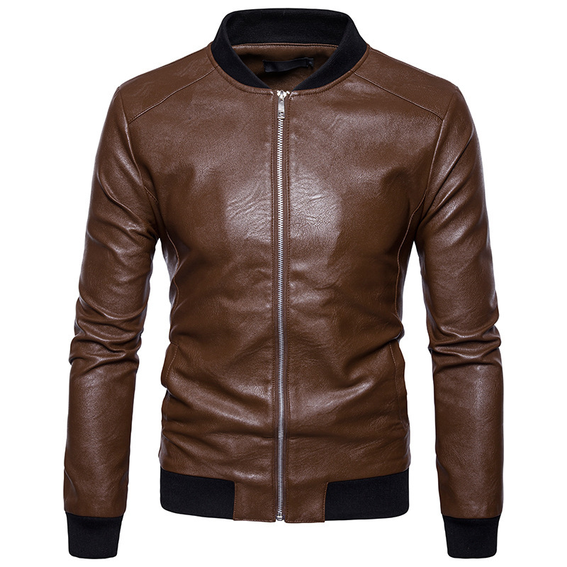 High quality creative autumn winter clothing new mens leather jacket mens fashion leathe ...