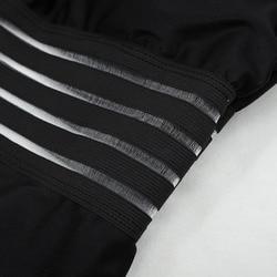 2019 сексуальный сдельный Купальник для женщин с высокой горловиной, бандажный купальник с перекрестной спинкой, монокини, черный купальник ... 5