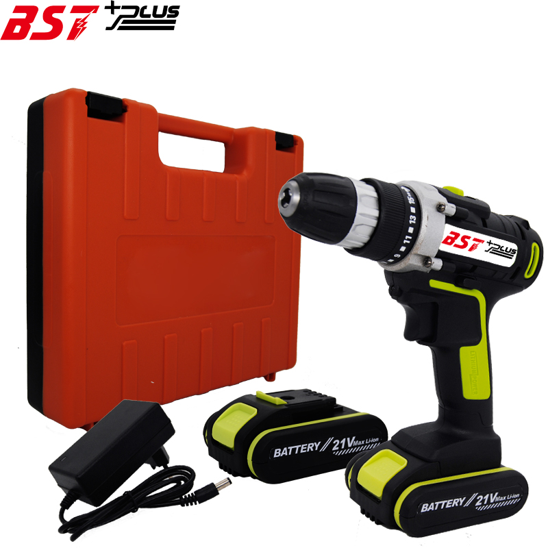 BST+PLUS(SIXTH STYLE)21V LITHIUM-ION BATTERY CORDLESS ELECTRIC HAND DRILL HOLE ELECTRIC SCREWDRIVER DRIVER WRENCH POWER TOOLS mateo дачи сет из двух тарелок