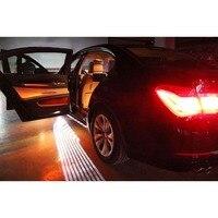 2 Pcs Car Angel Wings Welcome Light Shadow Projector Light Car Door LED Lamp Warning Light
