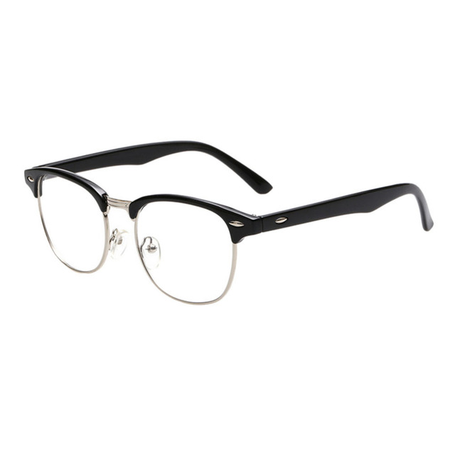 ceabfc78df Eyewear Vintage Retro Classic Half Frame Horn Rimmed Clear Lens Glasses  Eyewear Accessories Optical glasses