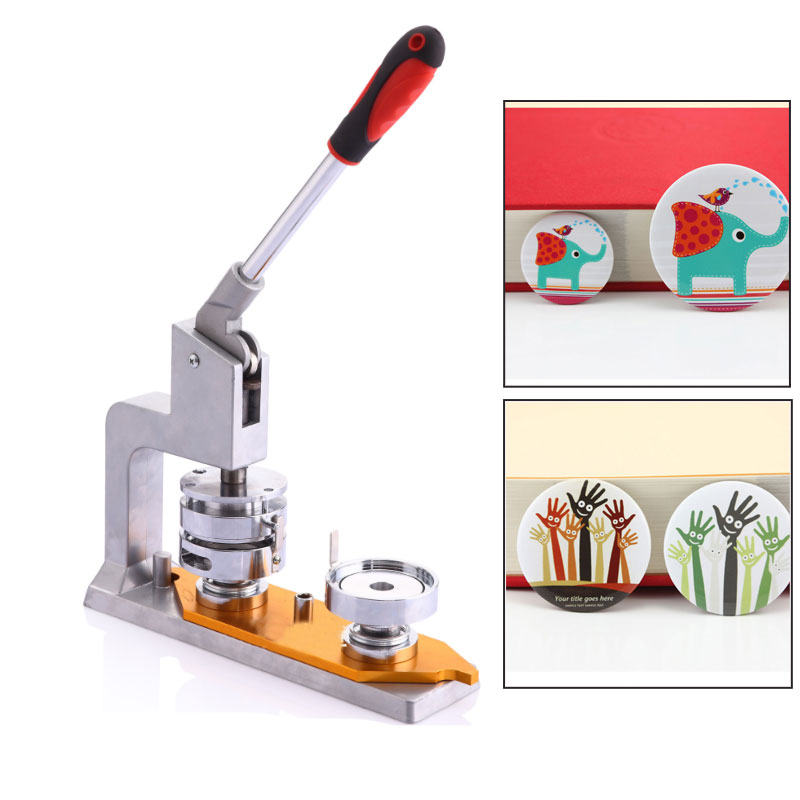 Newest Whirling Button Maker Badge Punch Press Machine 25/32/37/44/58 Mm DIY Machine Pressure Card Machine Tag Machine With Mold