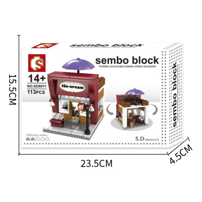 Street View Building Model of Building Block Assembly Toys Street View Children 39 s Toy Coffee Shop Supermarket Street View in Screwing Blocks from Toys amp Hobbies