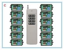 3000M Long Range AC220V 1CH RF Wireless Remote Control Relay Switch light /lamp/ window/Garage Doors shutters projection screen