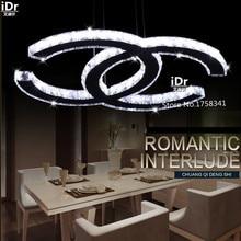 Новые Горячие продажи c стиль СВЕТОДИОДНЫЕ K9 хрустальная люстра современная гостиная/столовая Спальня огни L590xW420xH1200mm