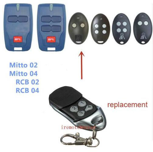 BFT Mitto 2 4, RCB02 RCB04 Replacement garage door remote control high quality for bft mitto b rcb04 gate door opener hand remote control rolling code 433 92mhz