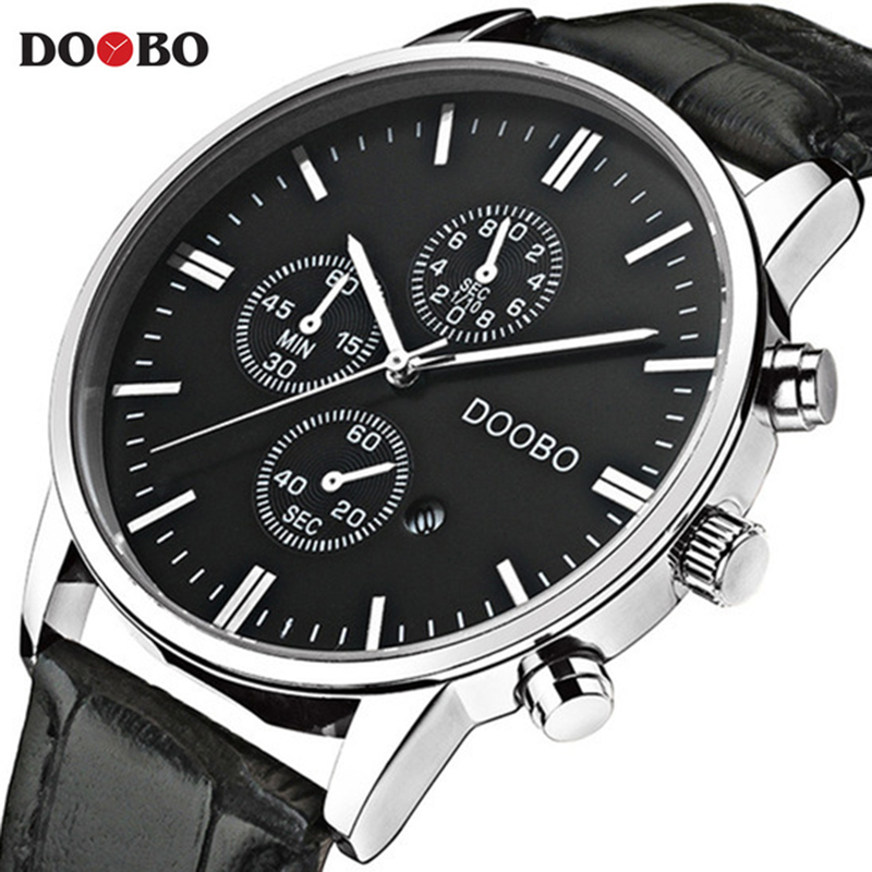 DOOBO Casual Fashion Quartz Watch Men Watches Top Luxury Brand Famous Wrist Watch Male Clock For Men Sports Relogio Masculino fashion top gift item wood watches men s analog simple hand made wrist watch male sports quartz watch reloj de madera