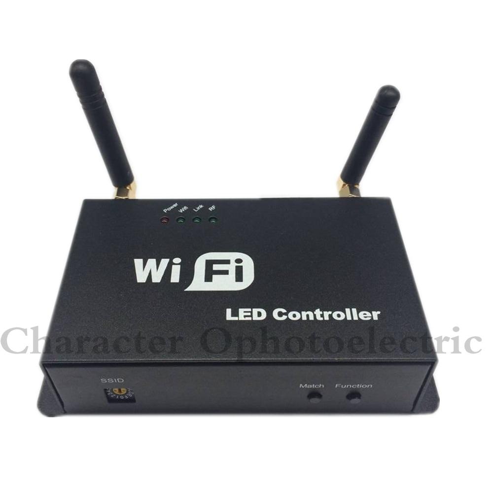 DHL Gratis verzending LED wifi master RGB HET controller met M12 LED remote 2.4 GHz Wi Fi ondersteunt max 12 zones controle - 4