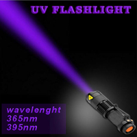 Cheap Portable Mini Led Flashlights LED Bulb UV Ultra Violet Flash Light Torch For Money Checking For Rechargeable14500 Battery