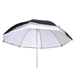 "Image 3 - Godox 33"" 84cm Double Layers Reflective and Translucent Black White Umbrella for Studio Flash Strobe Lighting"