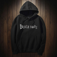 2017 Unisex Japanese Black Anime Death Note Print Women Hoodie Woman Autumn Winter Harajuku Hoodies And