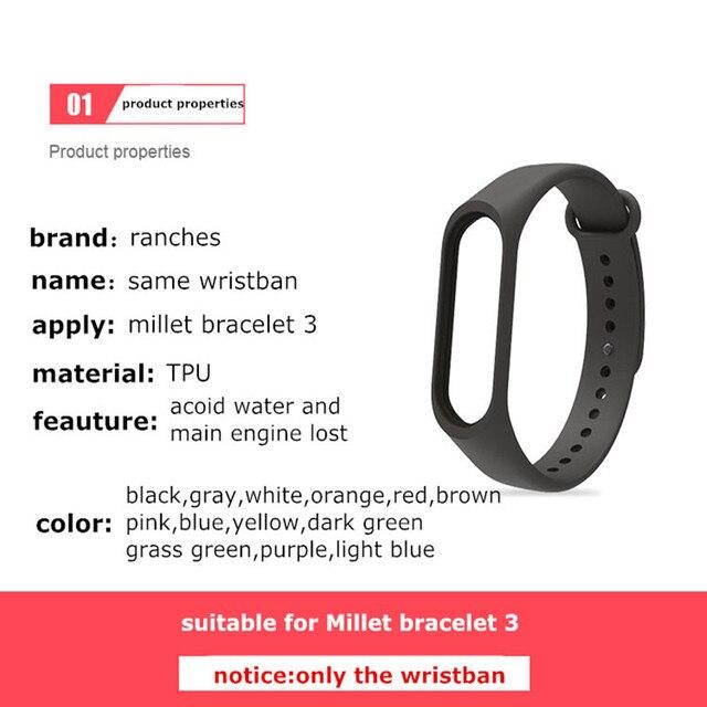 Bracelet for Xiaomi Mi Band 3 Sport Strap watch Silicone wrist strap For xiaomi mi band 3 accessories bracelet Miband 3 Strap 2