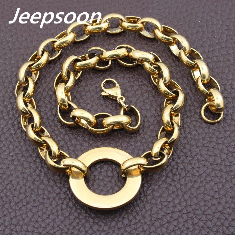 Monili di modo Dellacciaio inossidabile Per La Donna Rotonda Collana Chain di Alta Qualità Multi-Colore Per Scegliere Jeepsoon NGEGAEBG