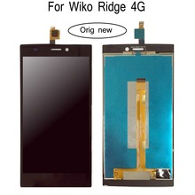 Shyueda 100% Oig NEW For Wiko Ridge 4G LCD Display Touch Screen Digitizer Assembly wth tools black white for wiko ridge 4g lcd touch screen assembly digiziter replacement lcd display for wiko ridge 4g free shipping