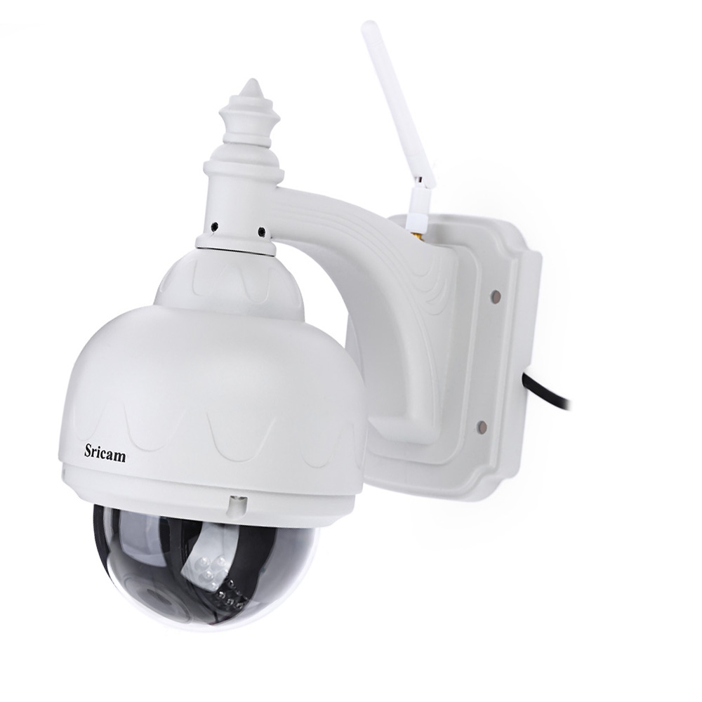 Sricam SP015 Outdoor Waterproof 720P HD IP Wireless Wifi CCTV Camera 1.0MP H.264 15m IR Range Pan Tilt Security Camera For Home sricam hd p2p h 264 1 0mp ptz ip wireless wifi outdoor camera 720p night vision 15m ir cut cctv camera waterproof dome camera